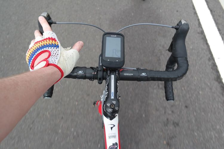 Human Hand Human Body Part Personal Perspective One Person Real People Outdoors Close-up Women People Day One Woman Only Technology Adult Adults Only Cycling GPS Road Cycling