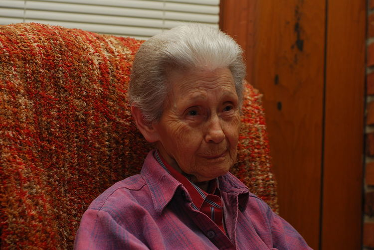 This is one of the last photos I ever took of my grandmother. She passed away this year at the age of 79. She had a great life. Casual Clothing Contemplation Grandmother Human Representation Nikon D80 Perspective Real People Relative Sitting Time