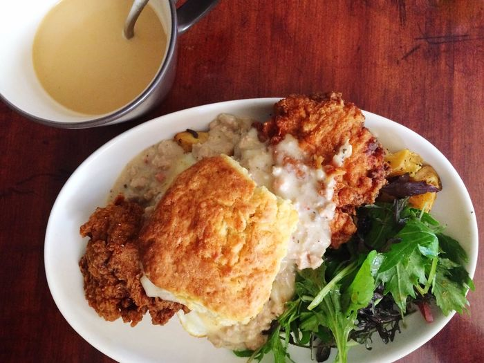 remembering Sunday Brunch Friedchicken Buscuitsngravy Heavenly First Eyeem Photo