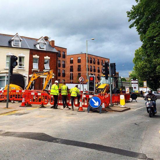 Gloucester Brunswick Street Construction Site Under Construction Men At Work  Road Street Streetphotography Traffic Lights Men