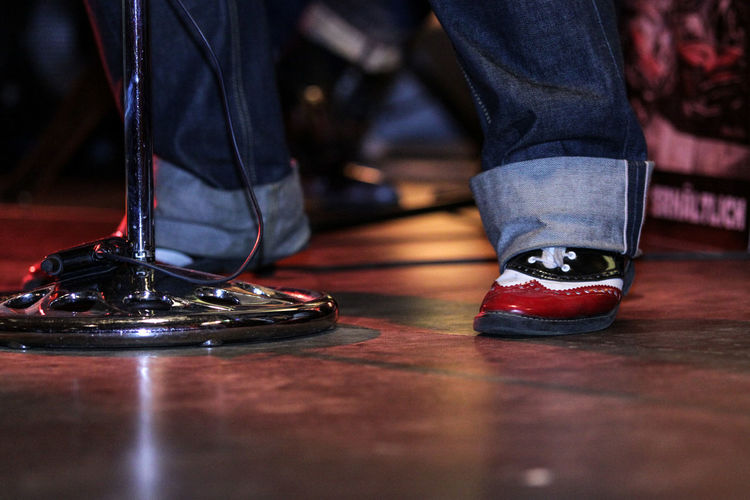 On Stage Elvis Human Body Part Low Section Men Musician Paint Shoe People Performance Rock Music Shoe Analogue Sound