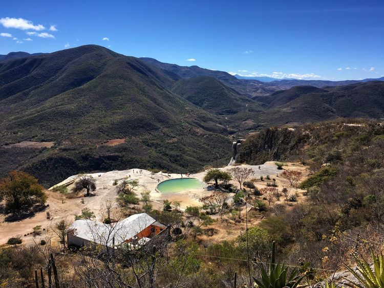 Hierve el agua Travel Cascades Petrified Mexico Oaxaca Hierve El Agua Mountain Mountain Range Tranquility Nature Scenics Beauty In Nature Tranquil Scene Outdoors Day Landscape