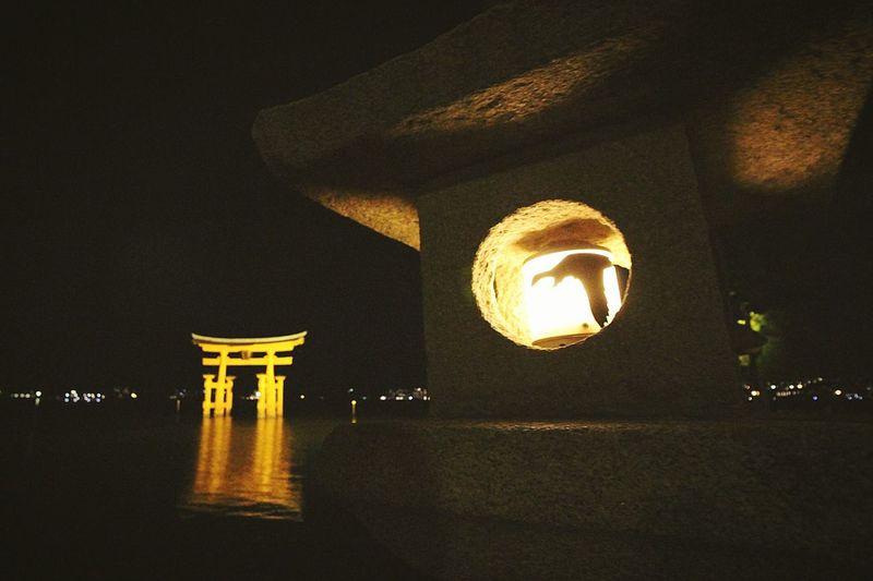厳島神社 Nightphotography 大鳥居(o-torii Gate)