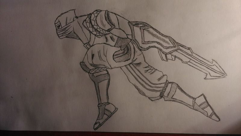 Pencil Drawing Art, Drawing, Creativity Drawing Zed Shock Blade Zed Skin League Of Legends LeagueofLegends Mid