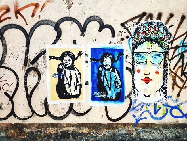 street art in Stockholm Pippilangstrumpf Pippi Longstocking Pippi Wall Art Art Urban Art Male Likeness Human Representation Female Likeness Day