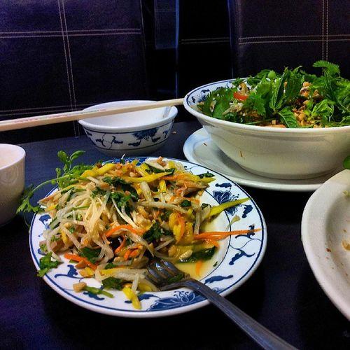 Food Vietnamese HaNoiQuan Manchester restaurant salad