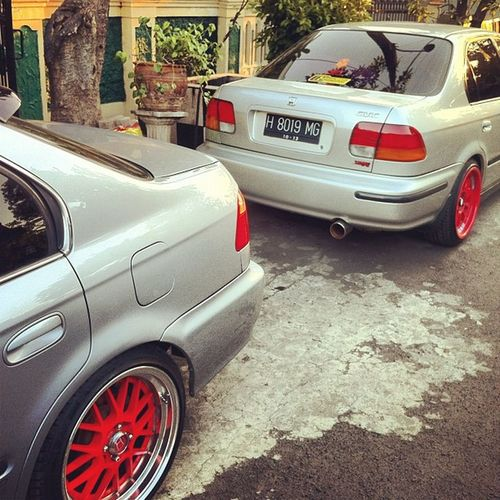 Back to back Civic Ferio Ek4 and ViRs