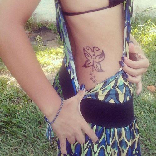 tattoo feita pelo meu amorzão hahahah Tattoodehenna Férias Verão
