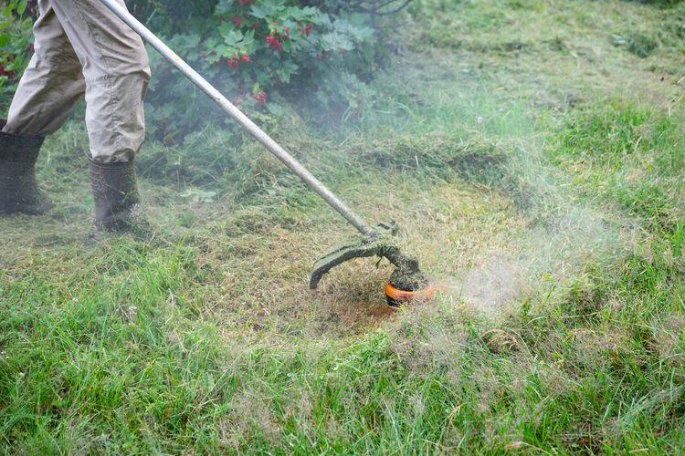 Gardening Grass Cutting Grass Day Garden Garden Maintenance Gardening Grass Growth Holding Land Motion Nature Occupation Outdoors Working
