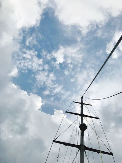 Cloud - Sky Sky Low Angle View No People Day Cable Outdoors Nature