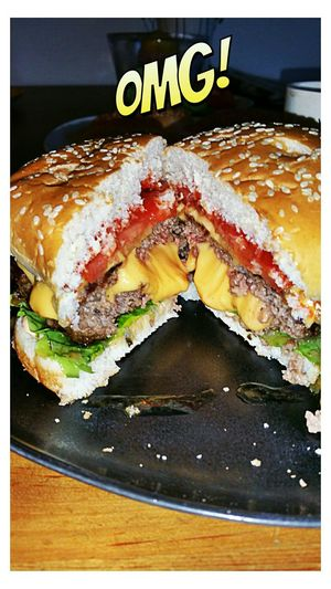 Juicy lucy! Burger Meltedcheese