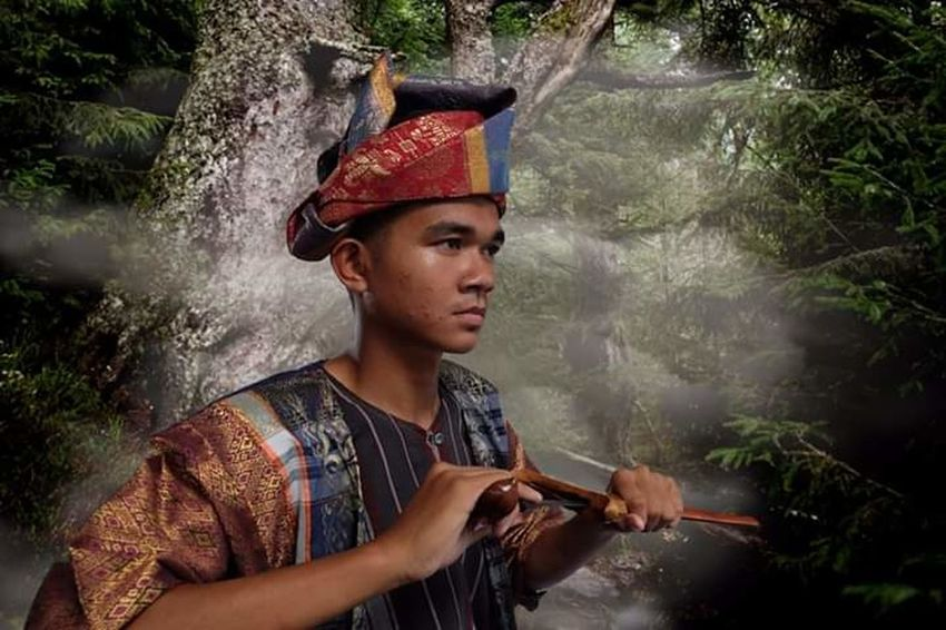 Pahang Malay Traditional Art and Culture - Malay Warrior (Pendekar) Water Weapon Mid Adult River Blank Expression Head And Shoulders