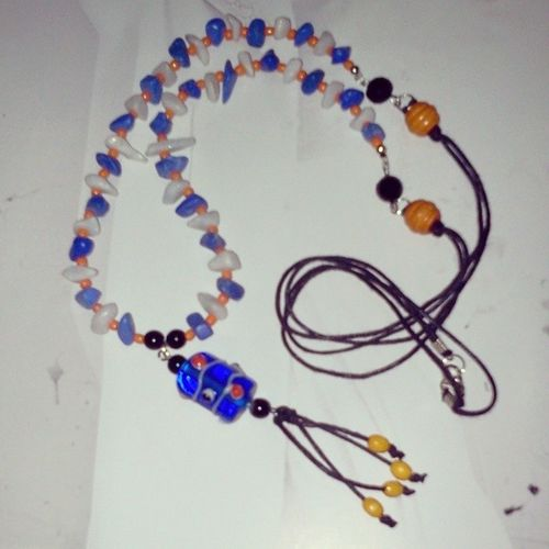 Just Thinkin' About To Change The Pendant become like this.. What do ya think? Yay or Nay..?? THe oRaNJe WiT BLaCBLu Bohemian Bohemia Boho Necklace Necklaces Jewelry Jewellery Bohemianjewelry Bohemiajewelry Bohojewelry Handmade Handmadejewelry By @just_jewelyounica ® <3 ;)