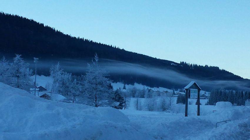 petite brume du matin avec -9 degrés