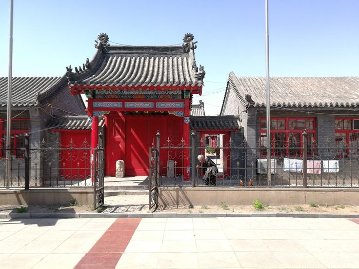 City Red History Cultures Gate Roof Sky Architecture Building Exterior Built Structure