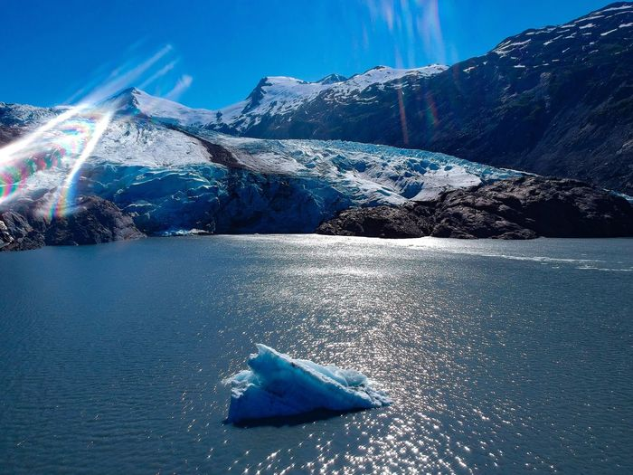 Lake Glacier Scenics - Nature Blue Water Beauty In Nature Nature Winter Tranquility