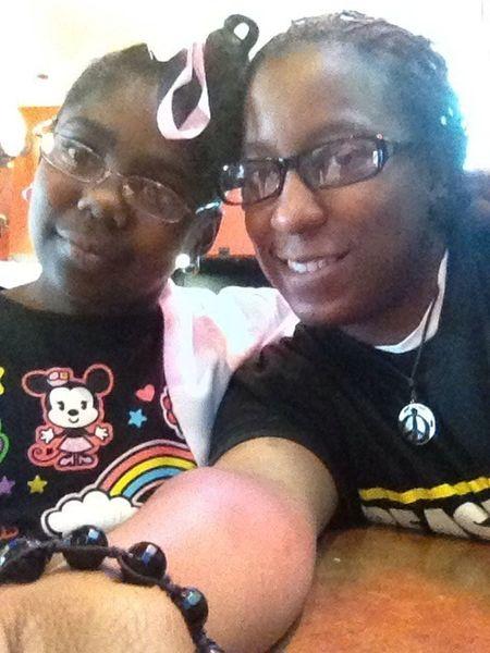 My niece & I #BuffaloWildWings #yessirrr