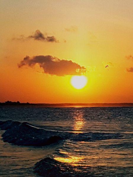 City of Salinópolis, Atalaia Beach, State of Pará, Amazon, Brazil. Sunset Sea Sun Beauty In Nature Nature Scenics Orange Color