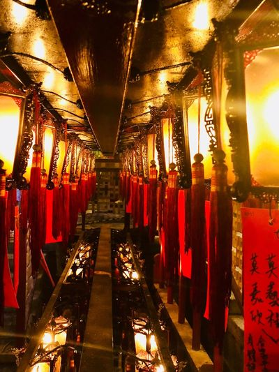 Temple lanterns Candle Lantern Temple Buddhism Illuminated Lighting Equipment In A Row Indoors  The Way Forward Direction Architecture No People Red Diminishing Perspective Religion Place Of Worship Luxury