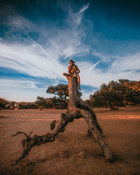 Plant Portugal Travel Traveling Tree Tree Trunk Trees View Writing Beauty In Nature Cloud - Sky Day Environment Full Length Land Mood Nature One Person Outdoors Plant Real People Scenics - Nature Sky Travel Destinations Tree Moments Of Happiness Exploring Fun