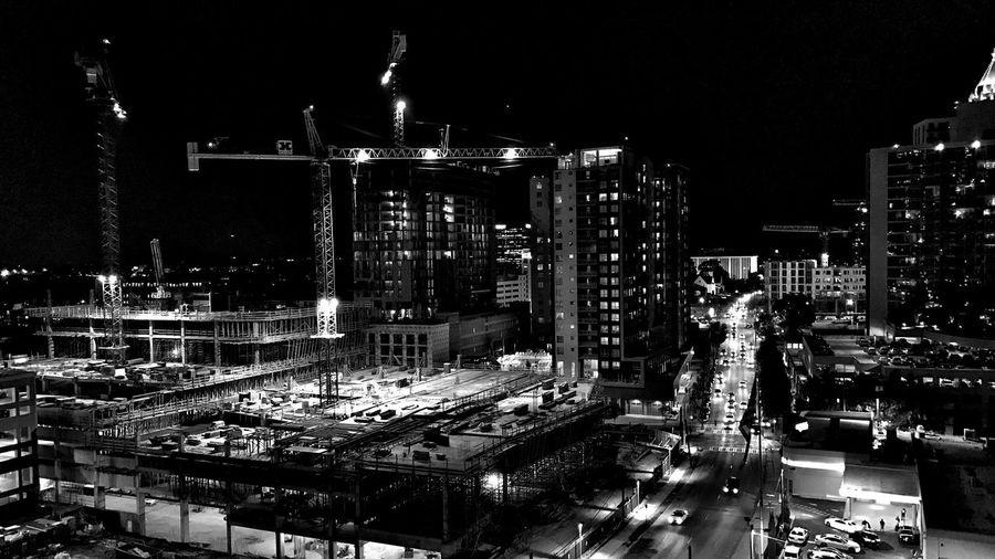 Urban Landscape Blackandwhite Illuminated Welcome To Black