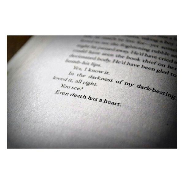 Even death has a heart. Thebookthief ♥ •••