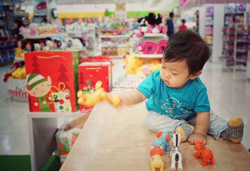 Childhood Indoors  One Person Child Real People Day Close-up People Sony A7ii Mirrorless Toys Baby while in Toystore