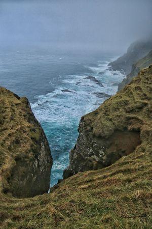 Gasadalur Faroe Islands The Great Outdoors - 2015 EyeEm Awards Atlantic Ocean Fog Coastline Coast Enjoying The View Mountains Sea