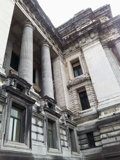 Architecture Building Exterior Built Structure Low Angle View Architectural Column Outdoors No People Day Sky Brussel Belgium
