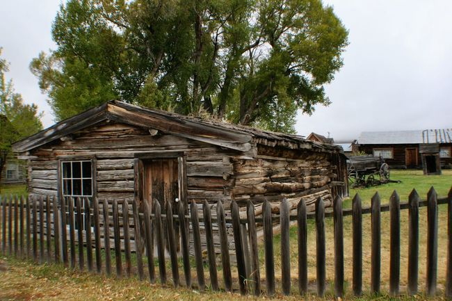 Homestead, Nevada City Montana Ghost Town Log Cabin American West Old West  Old House Nevada City