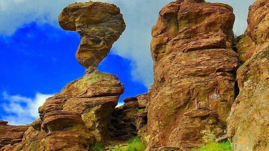 Dramatic Angles. Rock Formation Nature Beauty In Nature Eroded