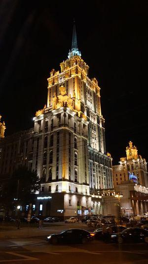 #Moscu Building Exterior Night Illuminated Architecture Built Structure Sky City Travel Destinations Tourism