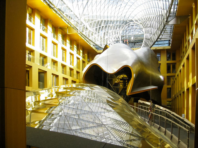Frank O. Gehry Paint The Town Yellow Architecture Bank Building Building Exterior Built Structure Day Indoors  No People