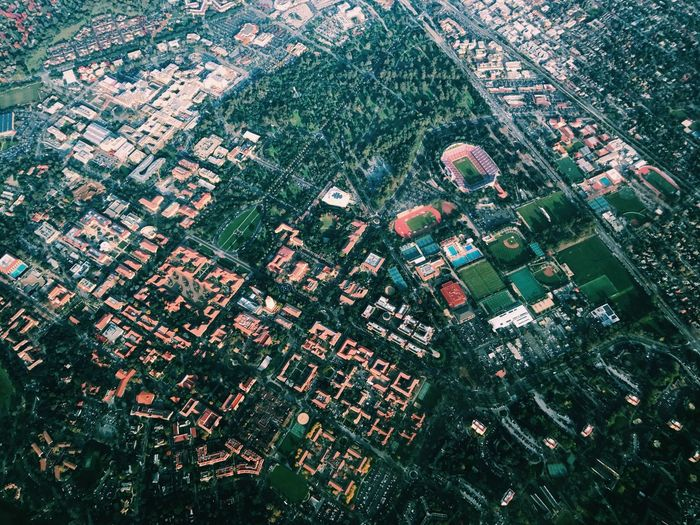 Hi Stanford University // Aerial View City Built Structure Building Exterior Architecture Cityscape Backgrounds Outdoors Scenics Landscape No People Tranquility Urban Sprawl Day Agriculture Patchwork Landscape Nature