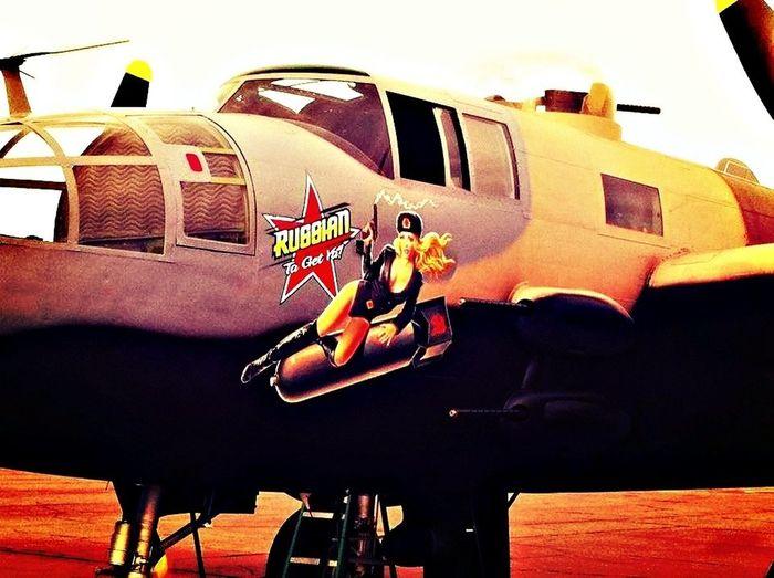 Airplane Taking Photos Nose Art