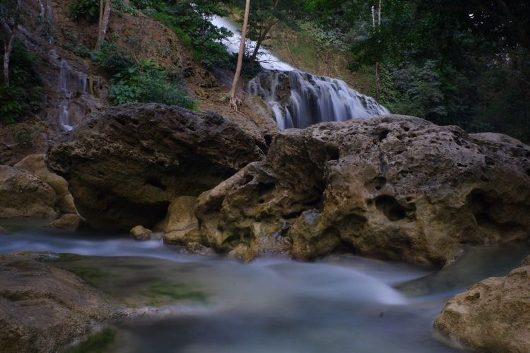 Water Rock Solid Rock - Object Flowing Water Beauty In Nature Scenics - Nature Waterfall Nature Stream - Flowing Water Forest Tree Long Exposure Blurred Motion Land Flowing