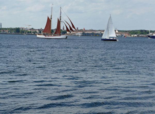 Baltic Sea Brown Canvas Brown Sai Mast Nautical Vessel Sailboat Sky Transportation Two-master Water White Canvas White Sail