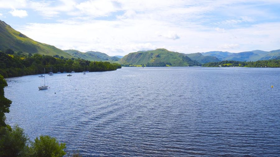 Area of outstanding beauty. Lake District Cumbria, England Area Of Outstanding Natural Beauty Lake District Lake District National Park Ullswater Ullswater Lake Lake Lake Ullswater Landscape Mountain Mountain Range Outdoors Scenics Tranquil Scene Ullswater, Lake District,