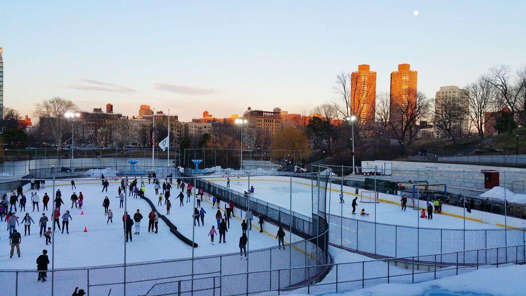 Ice Skating Ice Rink Lasker Rink Central Park North New York City Newyorkcity