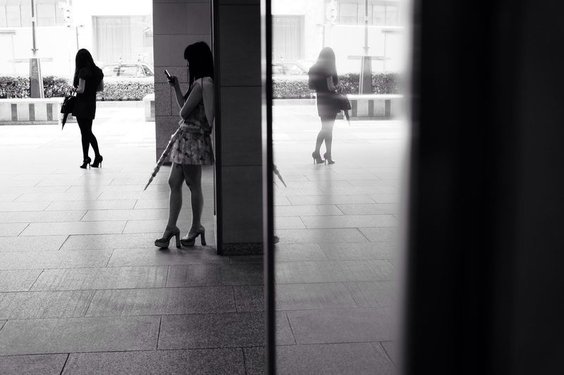 Blackandwhite Monochrome Streetphotography Reflection