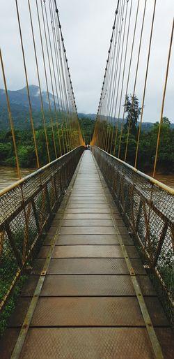 Hanging Bridge... Suspension Bridge Footbridge Architecture Built Structure EyeEmNewHere