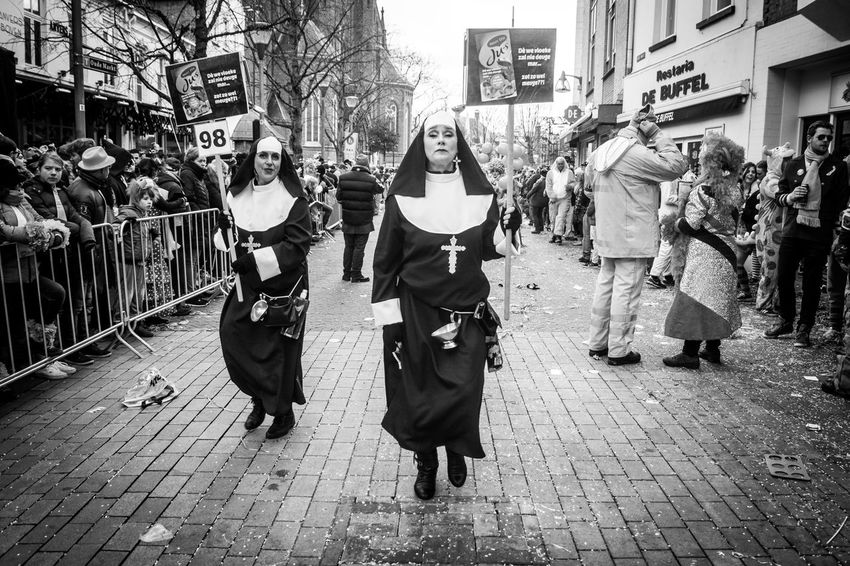 nuns Carnaval Nuns Tilburg Nederlands Defiance Walking Outdoors Real People Day Building Exterior City Adult People Adults Only Press For Progress