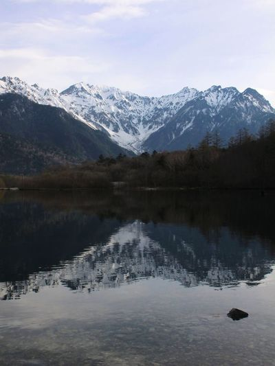 Reflection Mountain Snow Lake Water Landscape Snowcapped Mountain Nature Beauty In Nature Scenics Mountain Range Winter Tranquility Cold Temperature Eau Sky Outdoors Montagne Neige❄ Lac Japan Japon Spring Printemps