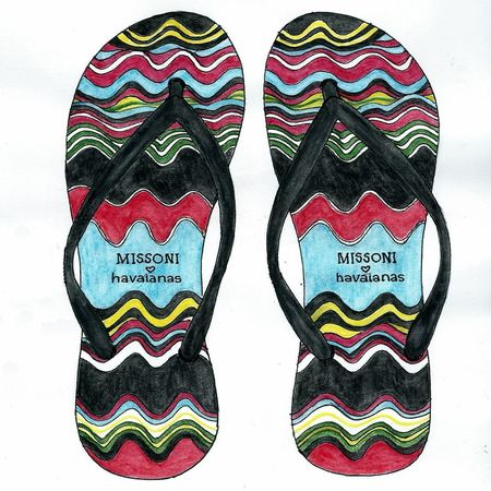 Havaianas Missoni Shoes Art, Drawing, Creativity Color Photography Aquarell Pencil Colorsplash