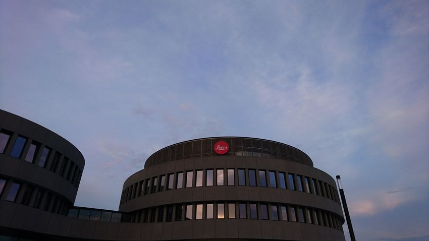 Leica headquarters. Wetzlar Germany Leica Leitzpark Headquarters Architecture Glass And Steel Steel And Glass Clouds And Sky Clouds Dawn Sunset Golden Hour Round City Politics And Government Architecture Building Exterior Built Structure Sky