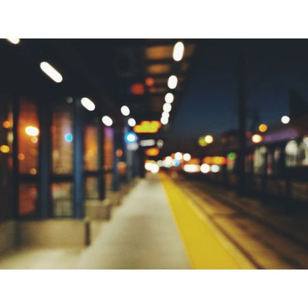 Blurred Light Rail City My Photography