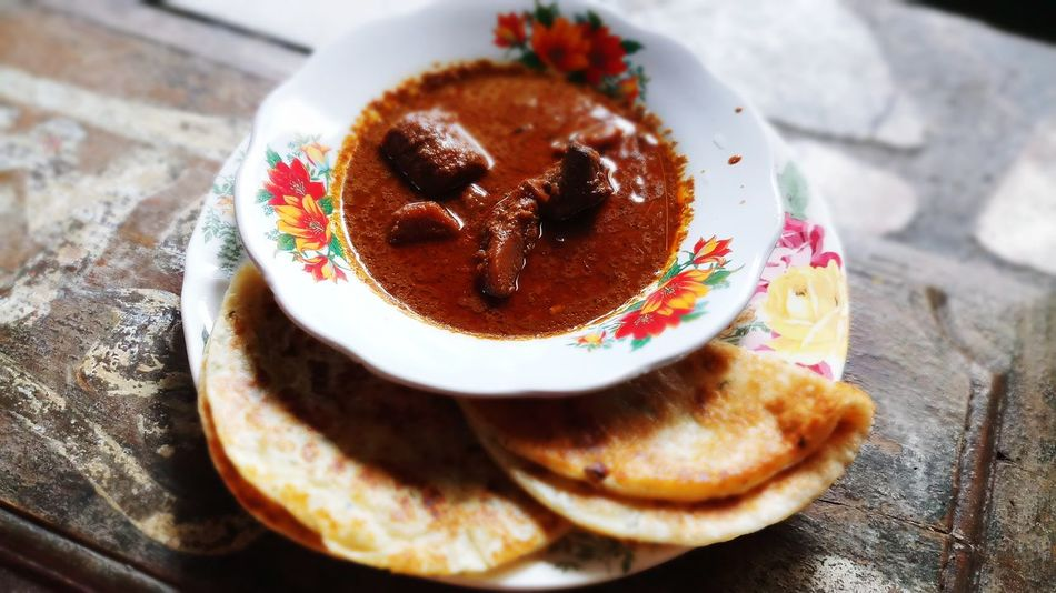 delicious Beef Curry Food Onion Pratha EyeEm Selects Indoors  No People Table