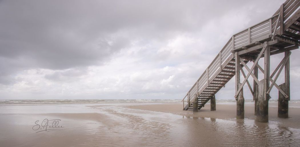 Stairway Stairs Ocean EyeEm Selects Sky Water Cloud - Sky Sea Beach Built Structure Architecture Scenics - Nature Horizon Over Water No People Nature Sand Outdoors