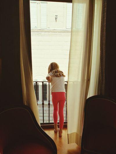 Soft Mood Courtain Girl Window