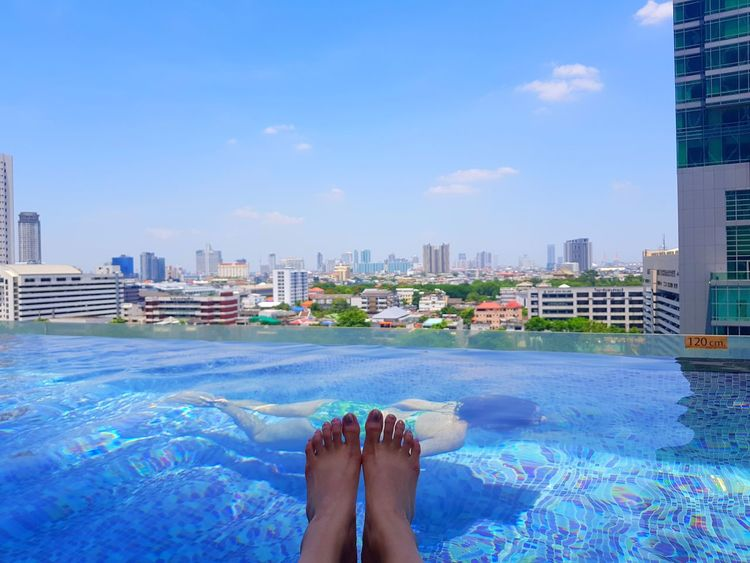 Thailand Bankok Infinity Pool Mode Sathorn Hotel Pool View